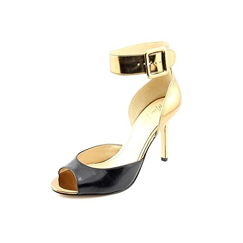 Marc Fisher Lira 2 Femmes Cuir Sandales Gold Muilti