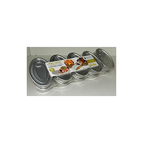 Boîte Finger Food Ovale à Servir en Fer-Blanc avec Couvercle Mesure l.11 x P.7 x H. 2,5 cm en Lot de 10 piècesIdéaux P