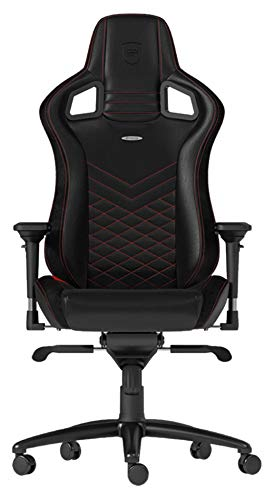 noblechairs EPIC Gaming Stuhl - Bürostuhl - Schreibtischstuhl - PU-Kunstleder - Schwarz/Rot