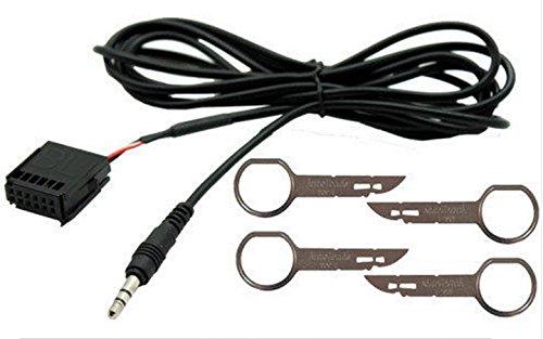 G.M. Production 228J + 4EAK–Kit Kabel AUX Line In Mp3und Sticks Entnahme Ford alle Modelle ab 2005Taste AUX A Vista [Fotos und Angaben zur Kompatibilität beachten] Gm Oem-radio