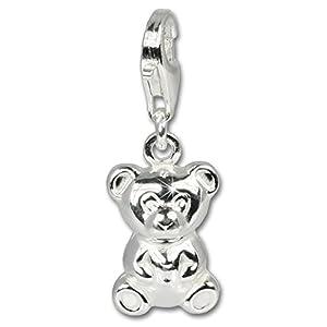 SilberDream Charms, Charm exclusive Teddybär Sterling Silber Charms Anhänger für Halsketten und Armbänder Sterling-Silber 925, FC620