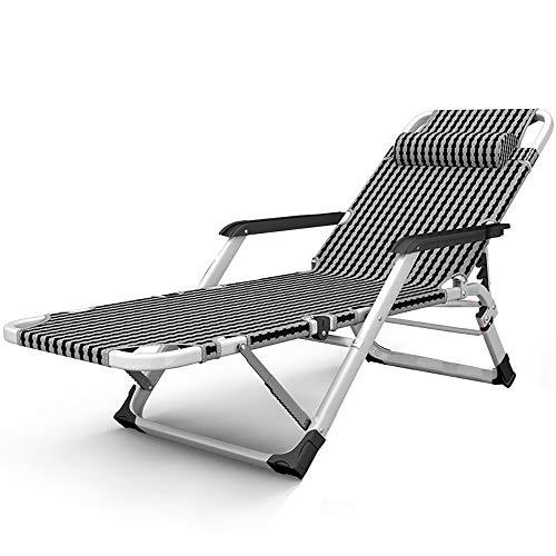 JB-deckchair Liegestuhl Faltbarer Garten Liege Büro Mittagessen Bett Balkon Liegestuhl Strand Camping Lazy Couch Stuhl Tragbaren Stuhl, Last 200kg (Farbe : A) -