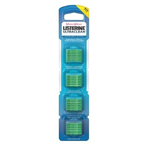 listerine-ultraclean-access-flosser-refill-pack-with-28-disposable-heads-mint-flavored-6-packs