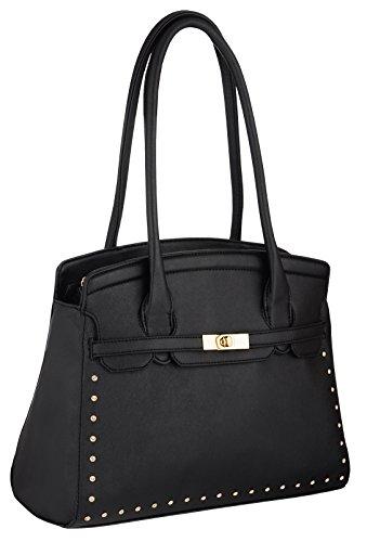 Eyecatch - Bexley Leder Frauen Handtaschen Schwarz