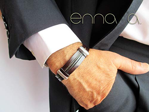 Armband aus braunem Leder Mann