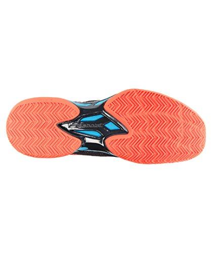 Chaussures BABOLAT Homme Jet Clay Terre Battue Gris / Rouge / Bleu PE 2017 ROUGE BLEU