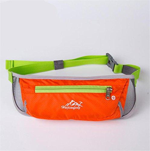 Wmshpeds Maratona di fitness borsa in esecuzione per esterno multi-funzione musica sport mobile cinghia con foro per auricolari D