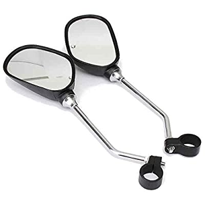 TekBox® Pair of Oval Bicycle Bike Mirrors with Reflectors / For Mountain Bike and Mobility Scooter Handlebars