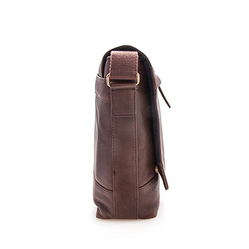 Zerimar Borsa Valigetta realizzata in pelle bovina di alta qualità Più compartimenti Misure: 30X39X9 cms Marrone