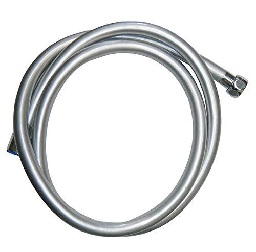 Flessibile Doccia PVC silver Tubo Doccia 1.5m inserti interni ottone. 5 anni garanzia rinforzato anticalcare made Germany