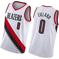 DGSFES Lillard No.0 Baloncesto Hombres Deportes Sin Mangas Jersey Trail Blazers Uniforme Traje Tops Camiseta de baloncesto-2-S