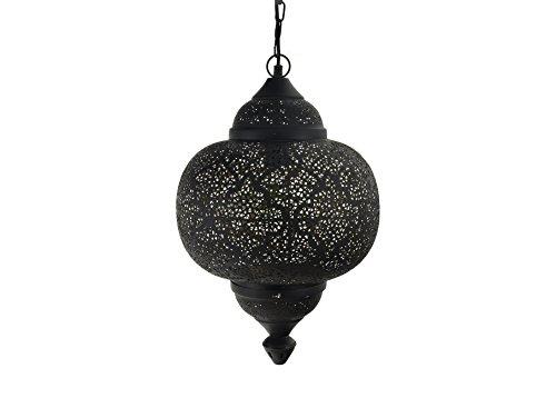 Emporio Arts lzc-526 B-BG matk tikoni Etching Lampe à suspension, fer, noir à l'intérieur or, E27, 40 Watts