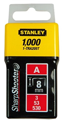 Stanley 1-TRA202T Agrafe 4 mm Type A Boîte 1000 pièces