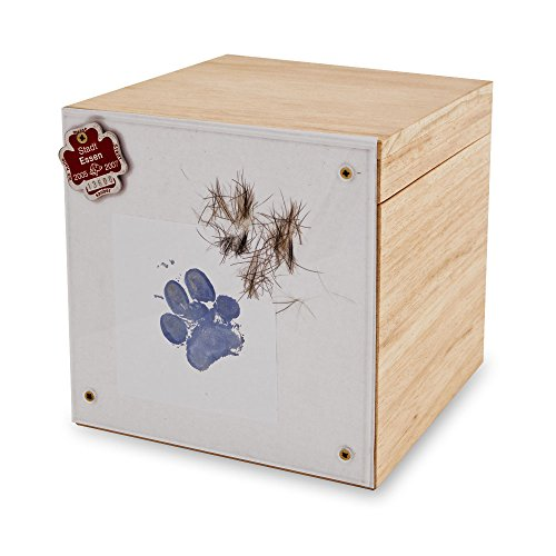 Tierurne aus Holz Erinnerungs-Box Branka (Klein) -