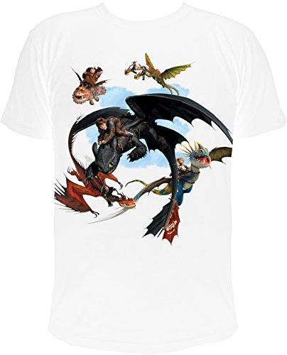 Kinder T-Shirt Dreamworks Dragons: Drachenreiter Freunde im Flug (140/146)
