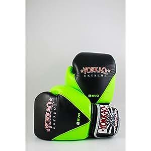 Yokkao Vevo Boxing Gloves - Green-Black 16oz