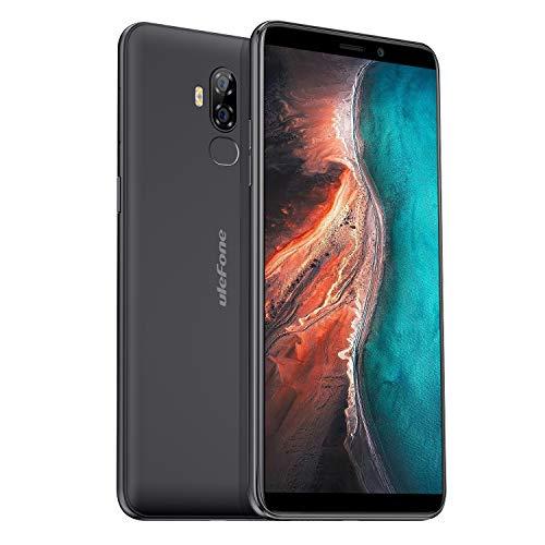 Ulefone P6000 Plus Android 9 Smartphone ohne Vertrag (6350mAh Akku 5V2A Schnellladung, Handy 6 Zoll 3GB RAM + 32GB Speicher, Dual SIM Dual Volte, OTG) Schwarz
