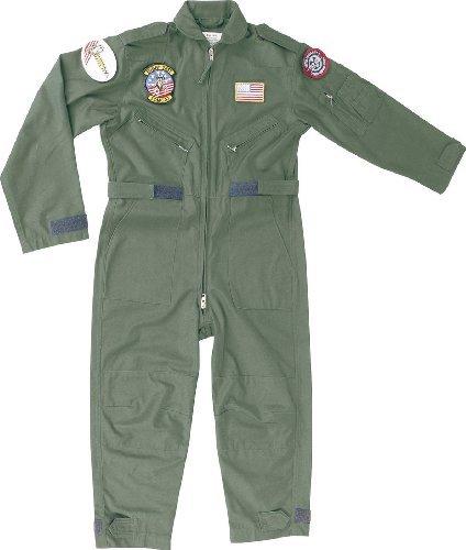 Kids niños Flying traje camuflaje/verde militar ejército soldado para disfraz (XS, verde)