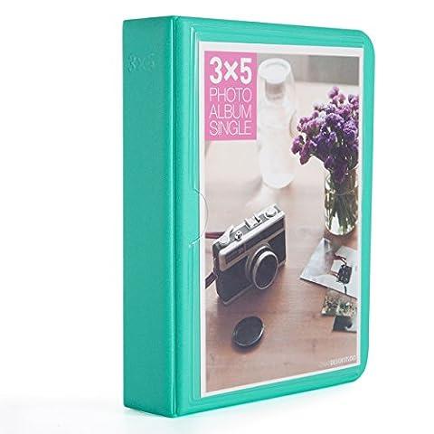 [Fujifilm Instax Foto Album] Woodmin 32 Pockets Mini Polaroid Fotoalbum für 5 Zoll Bilder,Wide 310 210, 3X5 Post Karte (Grün)