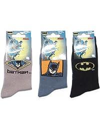 Pack de 3 pares de Calcetines de Batman T/6-8