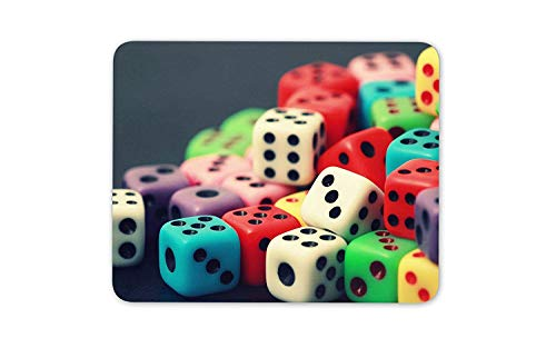 Colourful Dice Mouse Mat Pad - Board Games Game Playing Card Gift Computer #8963