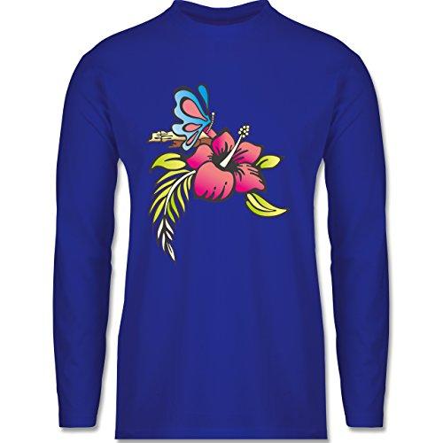 Shirtracer Blumen & Pflanzen - Blumen - Herren Langarmshirt Royalblau