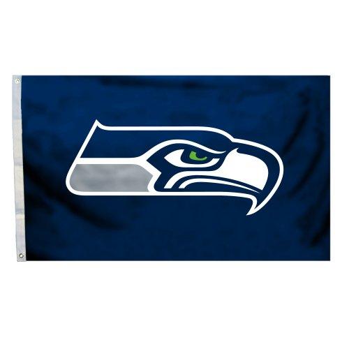 Fremont Die NFL Flagge mit Ösen, 3 x 152 cm, Polyester, Seattle Seahawks, 3' x 5' -