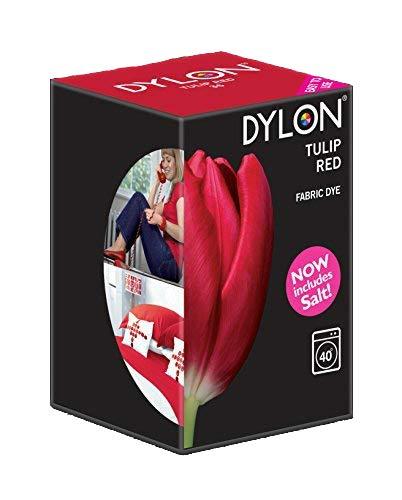 DYLON Maschine Farbstoff 350g Tulpe Rot, Salz Enthalten!