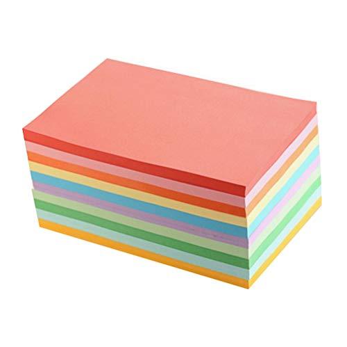 100 Blätter A4 10 Verschiedene Farben Mehrzweckschreibpapiere Doppelseitendruck Hand Craft Origami Manuelle Falzpapiere für Büro Schule Stationäre Versorgung -