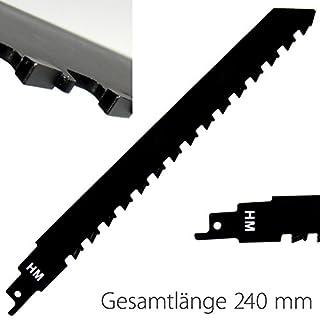 HM Säbelsägeblatt 240x12,7 mm zum Sägen in Ziegelstein, Porenbeton, Mauerstein, Zementstoffe Special for Brick (240 mm)