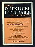 REVUE D'HISTOIRE LITTERAIRE DE LA FRANCE [No 2] du 01/03/1989 - BRODY - LES VAUTOURS ET LES PIGEONS - DE LA FONTAINE - FRAISSE - DE L'IMITATION A L'ORGANICISME - MONTESQUIEU A LA LUMIERE DES SOCIOLOGUES EN 1880 - DEDNAM - RIMBAUD - FRANDON - MAURICE BARRES ET LA GENESE DU ROMAN DE L'ENERGIE NATIONALE - WEGIMONT - LES CAHIERS D'ANDRE WALTER ET LA PORTE ETROITE