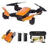 le-idea IDEA7 - Drone GPS con videocamera 1080P Fov 120 °, Trasmissione Live WiFi FPV HD, Follow Me, GPS Return Home, Elicottero RC per Principianti ed esperti, Colore Arancione (Versione aggiornata)
