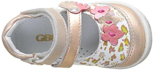 GBB Pia, Mary jane Bébé Fille Multicolore (Vte Blc Imp-Rose Poudre Dpf/2787)