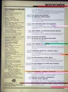 CONNAISSANCE DES ARTS N 344 du 01-10-1980 LA COLLECTION ANDRE MEYER - L'ART EGYPTIEN - JULES OLITSKI - LA COLONIE D'ARTISTES DU GRAND-DUC DE HESSE-DARMSTADT - LE JARDIN DU FACTEUR-TIGRE - LES ILLUMINATIONS D'ANITA ALBUS - LE STYLE LIEGEOIS