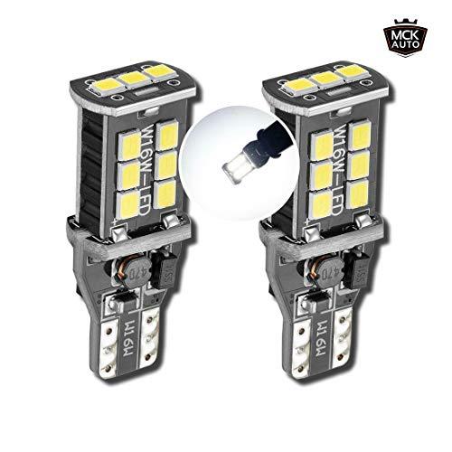 MCK Auto - Remplacement pour Ensemble d'ampoules blanches T10 T15 W16W LED CanBus très clair et sans erreur compatible avec A3 A4