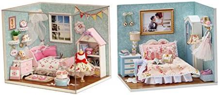 B Blesiya 2pcs Miniature Dollhouse LED Bricolage Maison de de de Poupée Jouet Assemblage avec Couverture Anti-poussière Décoration B07FK5P8WH ce9dbb