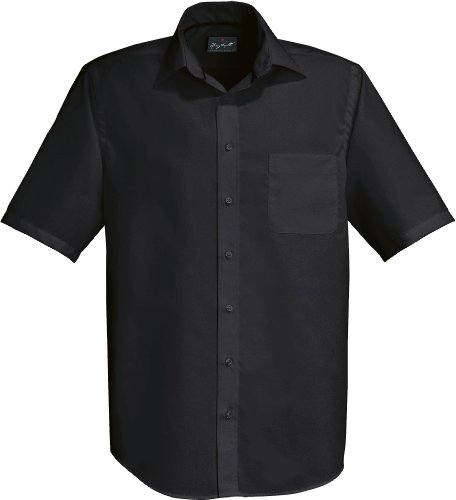 HAKRO -  Camicia classiche  - Maniche corte  - Uomo Nero
