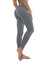 Queenie Ke Femme Legging de Sport Pantalon pour Course Yoga Pilate Gymnase
