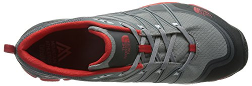 The North Face M Litewave Ampere, Chaussures de Sport Homme, Jaune Gris (Monument Grey / Fiery Red)