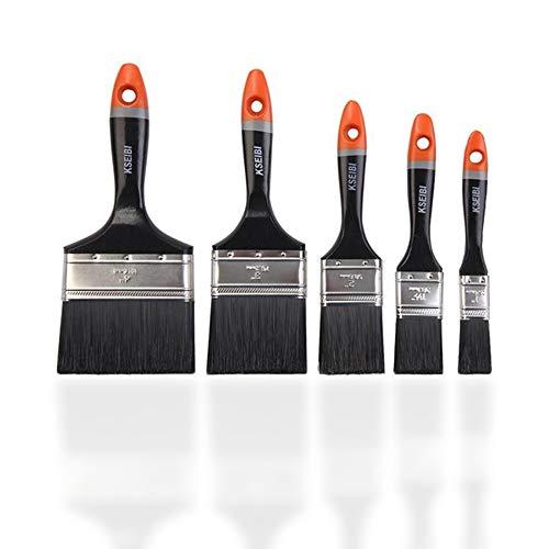 Professionelles Malerpinsel Set 5 tlg - Premium Lackierpinsel, Lasurpinsel und Flachpinsel zum Lackieren und Malen