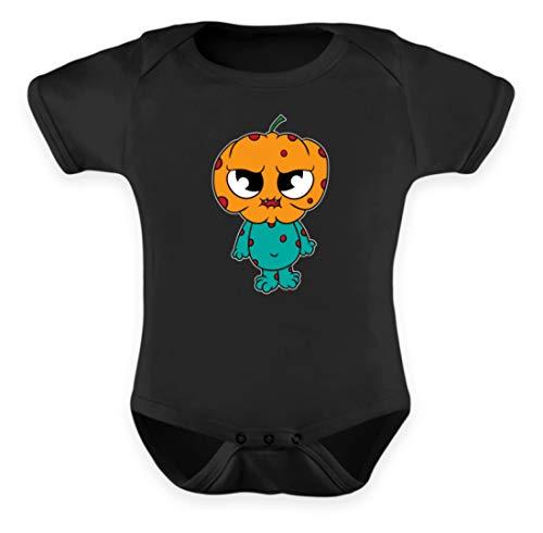 s Monster für Babys und Kinder süßes Ungeheuer Babygewand Strampler Taufe Geschenkidee - Baby Body -12-18 Monate-Schwarz ()