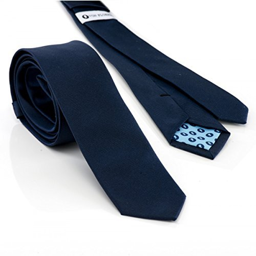 VON FLOERKE Business-Krawatte aus Seide / schmale Herren-Krawatte / Seidenkrawatte für Büro und Festlichkeiten / 5cm Krawattenbreite / made in Germany / Blau (Italienischer Seide Schal)