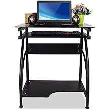 Ordenador compacto escritorio ligero con ruedas de la bandeja de teclado