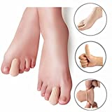 Kalevel 2pcs Soft Gel Toe Caps Gel Toe Protector Finger Protector Gel Toe Sleeves Separators Finger Protection Toe Protection Toe Separators for Bunio