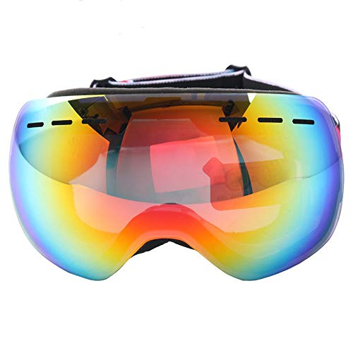 Chengzuoqing Skibrille Snowboardbrillen - Skibrillen Doppelte Anti-Fog-Skibrille Schneebrille Outdoor-Kletterwindschutzscheibe Snowboarden, Skifahren, Skaten (Farbe : Rot)