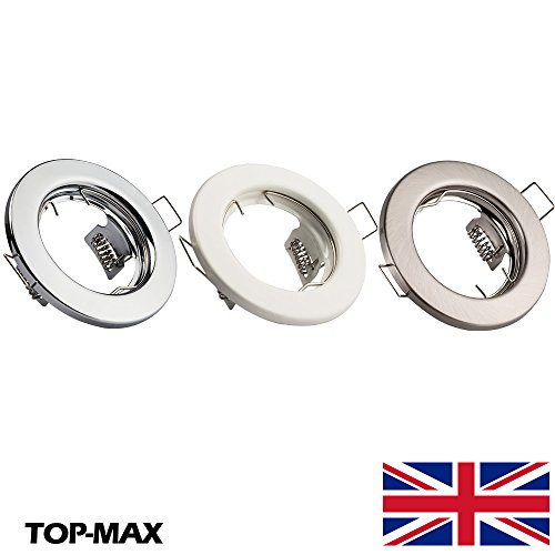 TOP-MAX GU10 Mains Recessed Downlight Fixed Fitting 240V Ceiling Spotlight