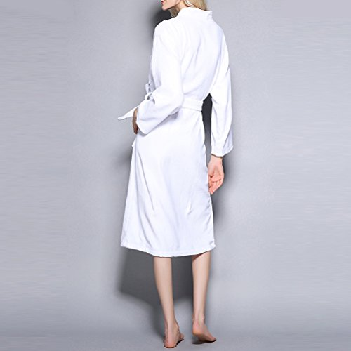 3ae48d7542 ... Zhhlaixing Uomo Donna Terry Towelling Bath Robe Vestaglie Accappatoi Pure  Cotton Housecoat per Adults Gym Shower ...