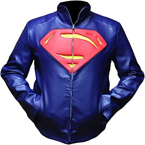 Superman Mann aus Stahl blau Lederjacke-xs