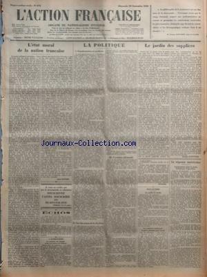 ACTION FRANCAISE (L') [No 274] du 30/09/1928 -...
