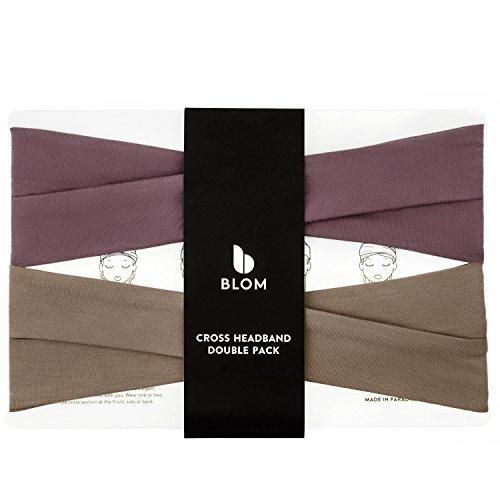 NEU. Blom Kreuz Haarband Double Pack, ideal für Sport, Yoga, Mode, und Running. Bequem und rutschsicher. (Running Shorts Liner)